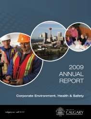 Corporate Environment, Health & Safety Report 2009 - Calgary Transit