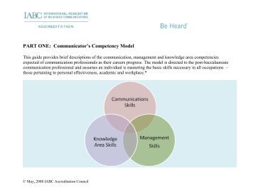 Communicator's Competency Model - International Association of ...