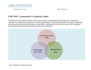 Communicator's Competency Model - International Association of ...