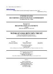 Winklevoss Bitcoin Trust Form S-1 Registration ... - Frank-CS.org