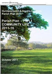 Parish Plan 2011 Part 1 Community Life - Hurstpierpoint and Sayers ...