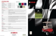 Brochure - Electric - Yamaha Golf Cars USA