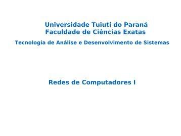 Modelo OSI - Gerds - Universidade Tuiuti do Paraná