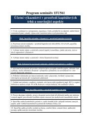 Účetní výkaznictví v prostředí kapitálových trhů a související aspekty