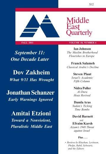 Dov Zakheim Jonathan Schanzer Amitai Etzioni - Middle East Forum