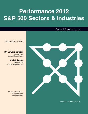 Performance 2012 S&P 500 Sectors & Industries