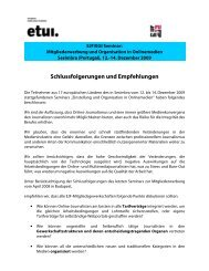 Schlussfolgerungen und Empfehlungen - Europe