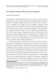 Wunsch_2012 - Das Lebendige bei Heidegger - Philosophie