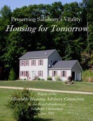 AFFORDABLE HOUSING DRAFT - Salisbury, CT