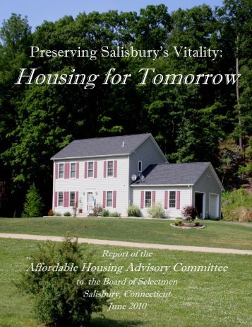 AFFORDABLE HOUSING DRAFT - Salisbury, CT