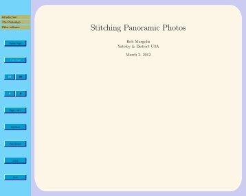 Joining photos into a panorama - Yateley & District U3A