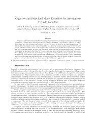 Cognitive and Behavioral Model Ensembles for Autonomous Virtual ...
