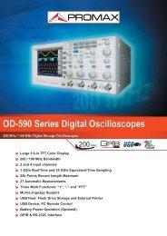 Digital Series Oscilloscopes - OD-590 - Promax
