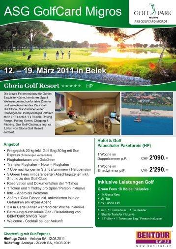 ASG GolfCard Migros - Golfpark