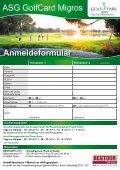 ASG GolfCard Migros - Golfpark - Seite 2