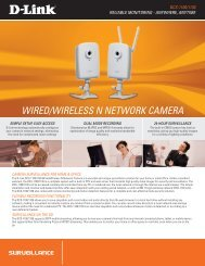 WIRED/WIRELESS N NETWORK CAMERA - D-Link