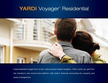 """YARDI Voyagerâ""""¢ Residential - Yardi Systems"""