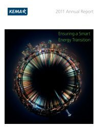 Ensuring a Smart Energy Transition 2011 Annual Report - DNV Kema