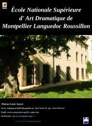 École Nationale Supérieure Maison Louis Jouvet - Montpellier ...
