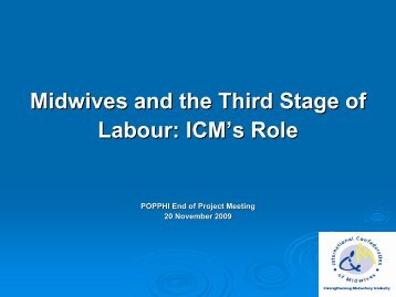 Midwives and the Third Stage of Labour: ICM's Role - POPPHI
