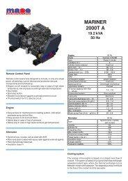 MARINER 2000T A 19.2 kVA 50 Hz - Yanmar