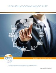 Annual Economic Report 2012 - European Telecommunications ...