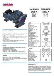 2400 A 50 Hz - Yanmar
