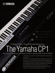 The Yamaha CP-70/80 and Their Era