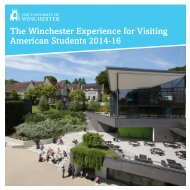 American Study Abroad Brochure - University of Winchester