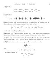 Solutions 2002 3rd AMC 10 A 2 1. (D) We have 102000(1 + 100 ...