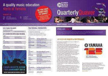 of passion & performance - Yamaha Music School