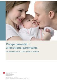Congé parental — allocations parentales - admin.ch