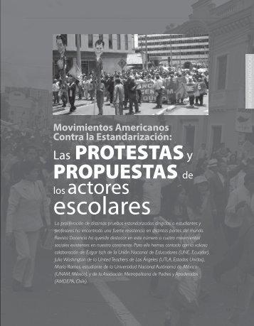 Las protestas y propuestas de los actores ... - Revista Docencia
