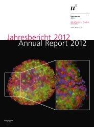 DCR Annual Report 2012 - brenneisen-unibe - Universität Bern