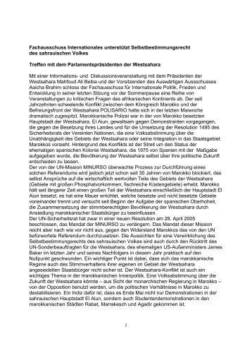 Erklärung - Internationale Politik, Frieden und Entwicklung - SPD ...