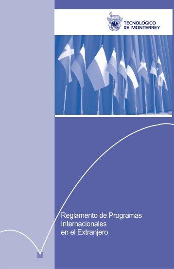 Reglamento de Programas Internacionales en el Extranjero
