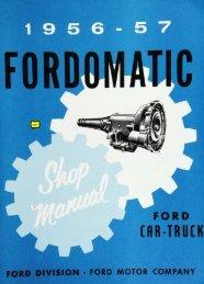 DEMO - 1956-57 Fordomatic Car-Truck Shop Manual