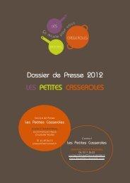 Dossier de Presse 2012 LES PETITES CASSEROLES - Transversal