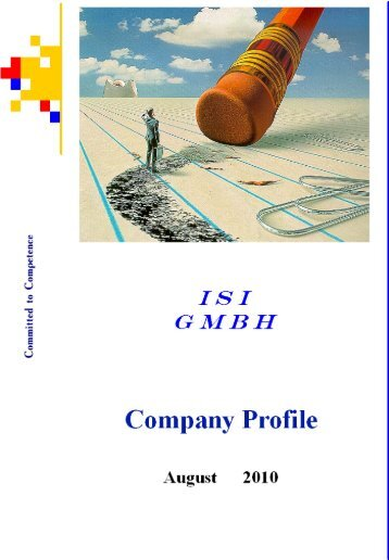 Company Profile - ISI Information Systems International GmbH
