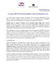 Le groupe ARINSO International implante sa Direction ... - Aderly
