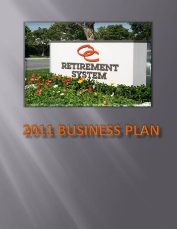 2011 Business Plan - OCERS