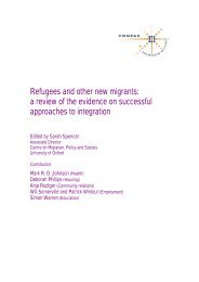Refugees and other new migrants - COMPAS - University of Oxford