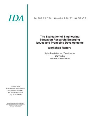 The Evaluation of Engineering Education Research - Institute for ...