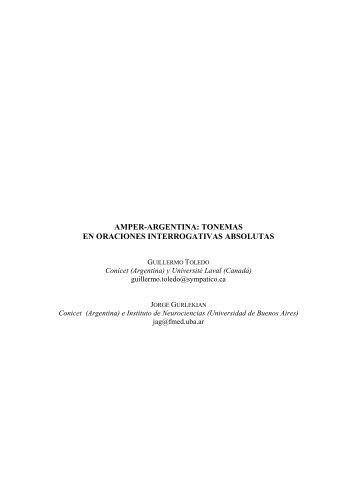 amper-argentina: tonemas en oraciones interrogativas ... - RACO
