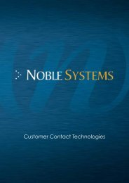Download our Corporate Brochure - Noble Systems