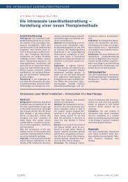 Die intravasale Laserblutbestrahlung – Vorstellung einer neuen ...