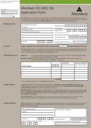 Aberdeen UK OEIC ISA Application Form - Aberdeen Asset ...