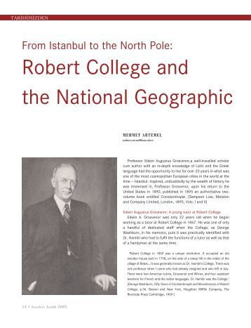 Robert College and the National Geographic