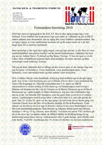 Formandens beretning 2010 - DKTF