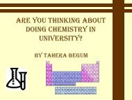 Are you thinking about doing chemistry in university?